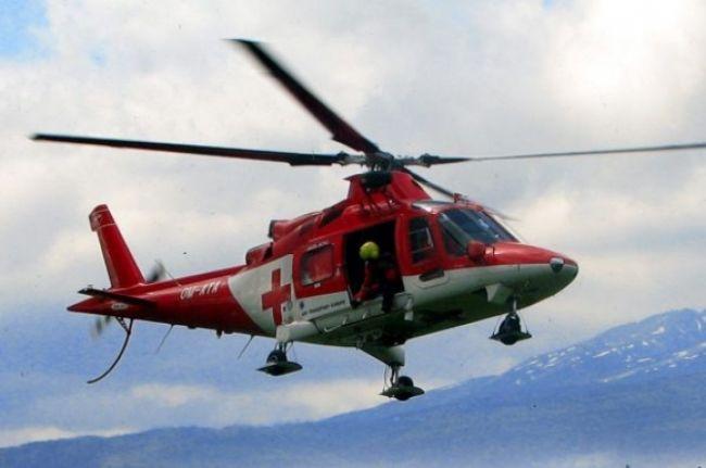 Pri dopravnej nehode musel zasahovať vrtulník