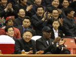 Búrlivák Rodman sledoval zápas s diktátorom Kimom Čong-unom