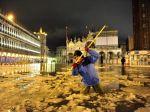 Benátky bojujú so snehom, na Námestí sv. Marka plávali kryhy