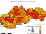 Polícia zverejnila na webe mapy kriminality na Slovensku