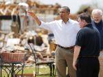 Obama navštívil obyvateľov postihnutých tornádom v Oklahome