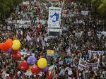 Tisíce ľudí protestovali v Madride proti trojke