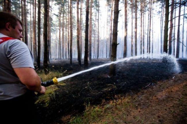 Požiar pri Veľkých Levároch je lokalizovaný, vlaky premávajú