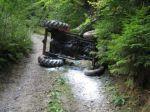 Traktorista sa vyvrátil v zákrute, nafúkal tri promile