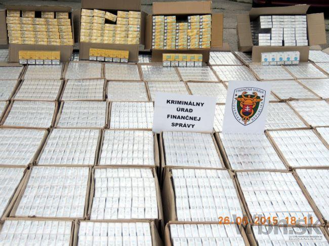 Colníci objavili pašované cigarety za viac než 60-tisíc eur