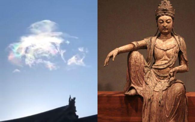 Video:Nad buddhistickým chrámom sa zjavili tieto oblaky.Snažia sa nám mnísi niečo povedať?