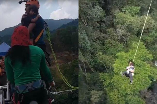 Video: Herec skočil z mosta so svojou 2-ročnou dcérou v náručí