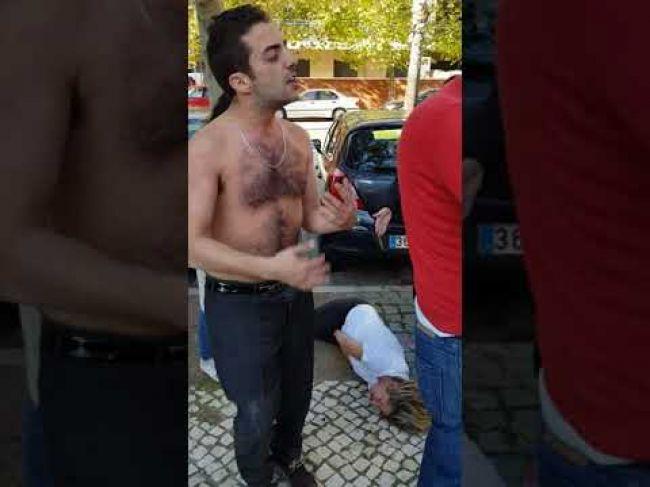 Video: Opitý muž udrel tehotnú manželku, na blízku však bol policajt v civile