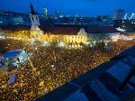 Foto: Nezabudneme a neodchádzame, nieslo sa Námestím SNP v Bratislave