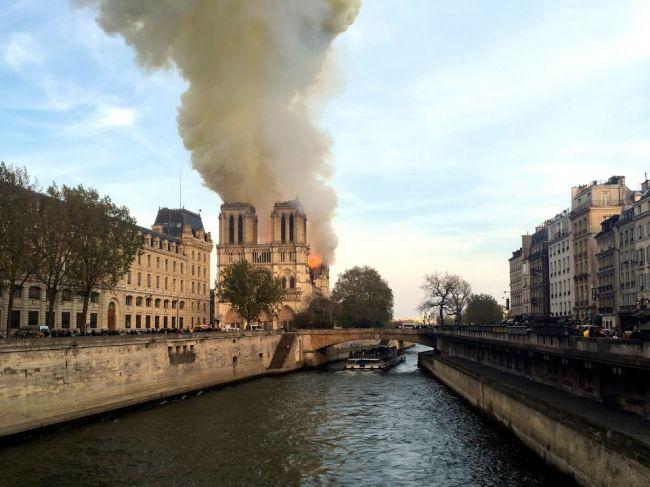 Foto: V parížskej katedrále Notre Dame vypukol požiar