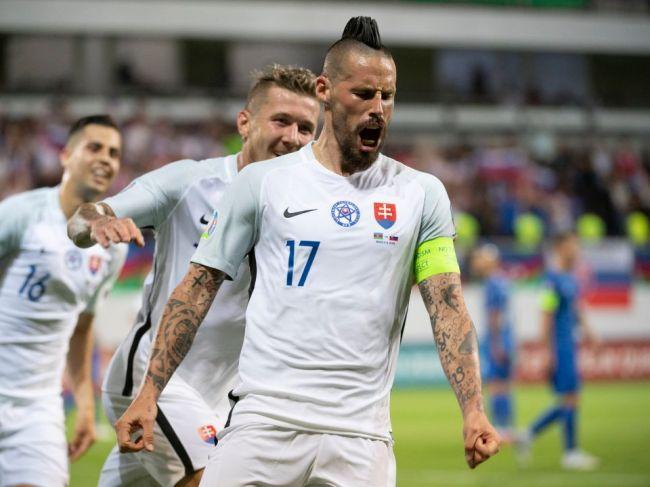 Slovenskí futbalisti zdolali Azerbajdžan s vysokým náskokom