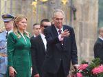 Čaputovú privítal v Prahe český prezident Zeman