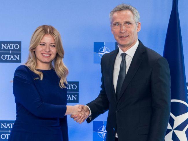 Stoltenberg ocenil Čaputovej prístup k NATO a bezpečnosti