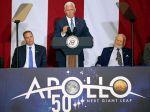 USA si pripomenuli 50. výročie prvého pristátia človeka na Mesiaci