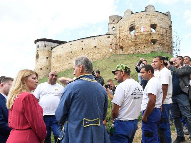 Prezidentka sa na hrade Zborov stretla so zástupcami samospráv