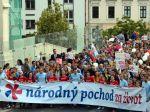 Organizátori Národného pochodu za život chcú ochranu života každého človeka