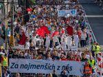 V hlavnom meste pochodovalo 50.000 ľudí za práva nenarodených detí