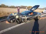 FOTO: Na R1 havarovalo luxusné ferrari, škody odhadli na 151.000 eur