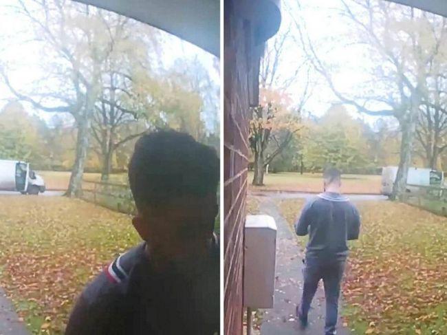 Video: Kuriér musel utekať za dodávkou, všetko zachytila kamera