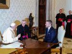 Pápež František prijal premiéra Petra Pellegriniho