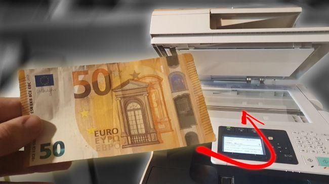Video: Toto sa stane, keď dáte kopírovať 50-eurovú bankovku