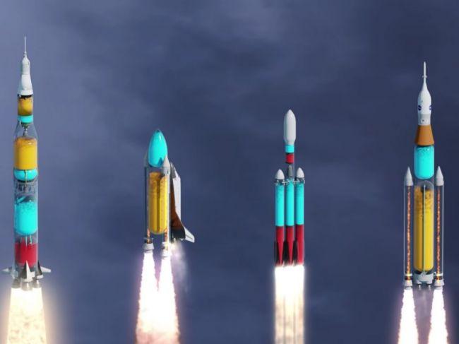 Video: Takto vyzerá pohľad dovnútra štartujúcich raketoplánov
