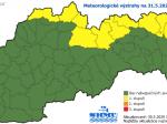 SHMÚ varuje pred dažďom na severe a východe Slovenska