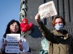 V Moskve sa konal protest proti Putinovi, aby bol pri moci do roku 2036
