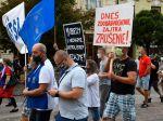Protestné pochody odborárov za práva všetkých zamestnancov pokračovali v Prešove