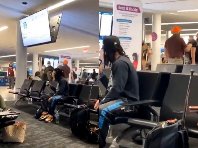Video: Muž, ktorý napadol Kapitol, sa na letisku stretol s nepríjemným prekvapením