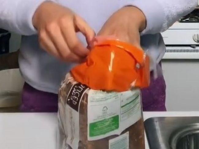 Video: Takto sa má správne zatvárať vrecko s chlebom, keď nemáte klipsu
