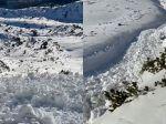 Video: V Tatrách spadla lavína, vo videu ju zachytili turisti