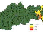 SHMÚ: V okrese Košice-okolie platí výstraha 2. stupňa pred povodňou