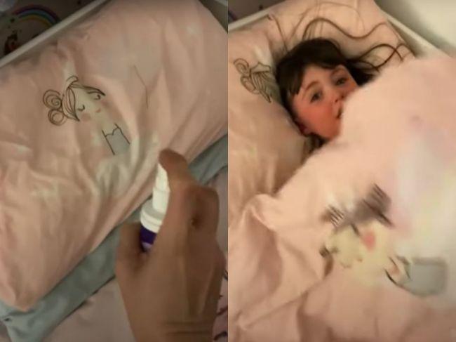 """Video: Mama dlho nevedela uspať dcéru. Problémy vyriešil """"zázračný"""" sprej"""