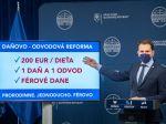 Matovič predstavil 3 piliere daňovo-odvodovej reformy