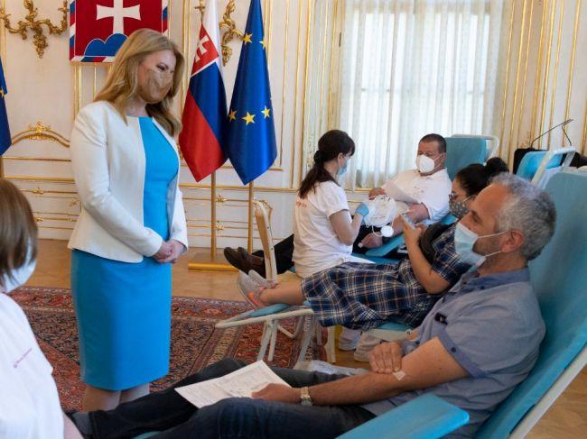 Prezidentka: Darovanie krvi je prejavom solidarity