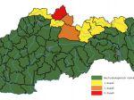 SHMÚ: Na severe Slovenska hrozia povodne, v okrese Námestovo platí 3. stupeň výstrahy