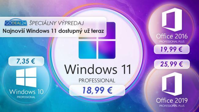 Windows 11 dorazil: Takto ho môžete získať už za 7,35 €