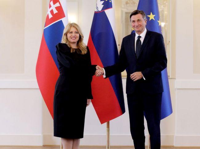 Čaputová a slovinský prezident Pahor diskutovali o rozšírení EÚ i zmene klímy